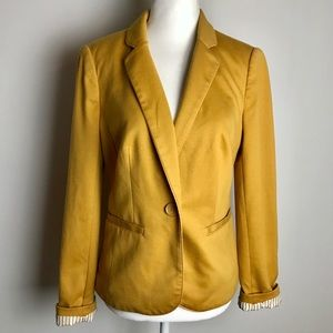 The Limited Mustard Yellow Stripe Lined Blazer
